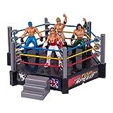 T.Y.G.F Mini-Wrestling-Figuren-Spielset, Kampfspielzeug, Wrestling-Spielset enthält, Spielzeug, lustiges Ring-Set Wrestler Krieger Spielzeug für Jungen Kinder Kinder