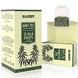 Hanf Tee Hoch Bio - 100% Natur Getrocknete Hanfknospen 20 Teebeutel - Nachhaltige Produkte, Entspannung