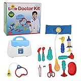 Atyhao 13 teiliges Kinder Doktor Spielzeug Set, Sound Light Kinder Doktor Kit Lustig, so zu tun, als würde Man EIN Cosplay-Doktor Spiel für Jungen und Mädchen über 3 Jahre Spielen(13 STK)