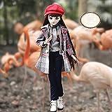 JLIMN BJD Doll 23,6 Zoll 18 gegliederte Puppen DIY Spielzeug mit Kleidung Outfit Schuhe Perücke Haar Bilden Mädchen,C