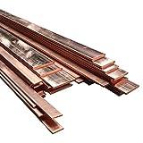 Auart Yilei-Sheet Hohe Reinheit Kupferstreifen T2 Cu-Blechplatte Reiner Kupferstange for DIY CNC PCB-Kit-Laminat-Leiterplatte 2/3 / 4mm, Korrosionsschutz (Specification : 4x15x100mm 1pc)
