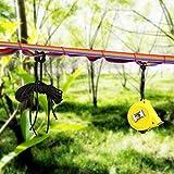 01 Camping Hängeseil, Wunderbares Zubehör Camping Wäscheleine Wäscheleine Reiche Farben Outdoor Camping Supply Einstellbar für Camper für Camping für Outdoor