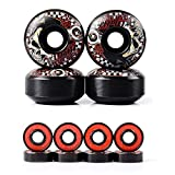 SKAL Skateboard Räder Rollen Ersatz Wheels 52mm Härtegrad 95A mit ABEC-9 8X Skateboard Kugellager