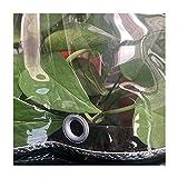 FSYGZJ PVC-Plane, transparente wasserdichte Hochleistungs-Weichfolie, 0,3 mm Dickes wetterfestes Kunststofftuch für Gartenmöbelabdeckung, 62 Größen (Color: Clear, Size: 2x2m)