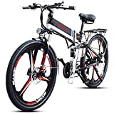 Shengmilo E-Bike M80 350W Elektrofahrräder E-MTB E-Mountainbike Faltbar,DREI Messerräder 26 Zoll,48V10.4Ah Lithium Akku im Rahmen
