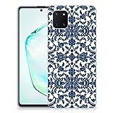 B2Ctelecom Handyhülle Silikon für Samsung Galaxy Note 10 Lite Soft Silikon Schutzhülle Case Cover Blumen-Blau
