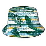 RUEMAT Fischerhut,Bio-Kokospalmenblätter-Zweige,Unisex Sonnenhut Bucket Hat Anglerhut Fishermütze Outdoor Faltbar Cap