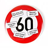 Herz & Heim® Riesen Verkehrsschild Button zum 60. Geburtstag
