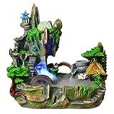 dhcsf Indoor-Tischwasserbrunnen Kreative Desktop Brunnen Home Office Aquarium Dekoration Handwerk Zerstäubung Luftbefeuchter Zen Meditation Wasserfalldekoration (Size : S)