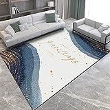 SunYe Wohnzimmerteppich Im Nordischen Stil Dicke Zweischichtige Büro-Fußmatten Schlafzimmer-Nachttischmatten rutschfeste, Verschleißfeste Fußmatten Veranda Schmutzabweisende Teppiche