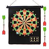 COMF Dartscheibe Set, Magnetisch Dartscheibe Doppelseitige Dartboard Dartspiel Set Sicherheit dieal für die ganze Familie 15inches