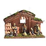 kdjsic Krippe Szene Harz Krippen Figuren Ornament Krippe Set Stabil für Home Church Dek