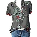 KYBA Damen Bluse Chiffon Elegant V-Ausschnitt Langarm Casual Oberteile Hemd Lose Langarmshirt Tops Sommer T-Shirt Basic Kurzarm Tops V-Ausschnitt Lockere Oberteile Solide Casual Shirts