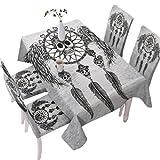 Totenkopfmuster Wasserdichte Tischdecke Antifouling-Tischdecke Küche Rechteckige Tischdecke Quadratische Tischdecke Geeignet Für Esszimmer Couchtisch Tisch Weihnachten Wohnzimmerdekoration 140x180cm