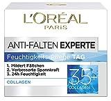L'Oréal Paris Anti-Falten Experte Tagescreme 35+, Anti-Age Feuchtigkeitspflege mit Collagen, mildert Fältchen und gibt Spannkraft für eine samtweiche Haut, 50ml