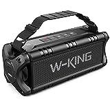 W-KING 50W(70W Gipfel) Bluetooth Lautsprecher IPX6 Wasserdicht, 24 Stunden Laufzeit, 8000mAh Power Bank, 30 Meter Reichweite, Tragbare Bluetooth Speaker Box Lautsprecher Musikbox mit TWS/NFC TF-Karte