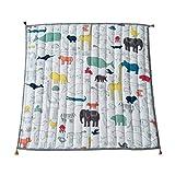 MONLEYTA Kinder Cartoon Tier Teppich Spielmatte Krabbelmatte Baby Spielmatte Krabbeln Super Soft Pad Adventure Map Spiel Teppich Square Floor Carpet