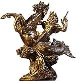 XiYou Skulptur Statue Dekorative Sammlerstücke Antike griechische Statue Skulptur Harz Handwerk Tischdekoration