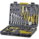 WMC TOOLS Werkzeug Set 555-teilig Werkzeug Haushalt Werkzeugkoffer für Heimwerker und Profi mit Steckschlüsselsatz, Bit Set, Schraubenschlüssel Set,