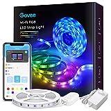 Govee WiFi LED Strip 5m, Smart RGB LED Streifen, App-steuerung, Farbwechsel, Musik Sync, funktioniert mit Alexa und Google Assistant