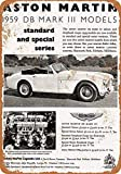 None Brand Aston Martin DB MK II Blechschild Retro Metall Wanddekor Tin Zeichen Vintage Plaque Wandaufkleber Geschenk Yard Bar Pub Cafe Home Decor