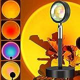 Sonnenuntergang Lampe, 4 Farben zu ändern LED Romantische Visuelle Stimmungslampe, 180 Grad Drehung USB Projektor Lichter with 2 M Ladekabel für Fotografie Hintergrund/Selfie/Schlafzimmer/Wohnzimmer