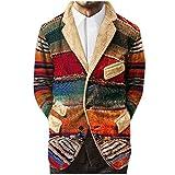 Yowablo Langarmshirt Pullover Herren Hoodie Herren Rollkragenpullover Weihnachtspullover Norweger Pullover Sweatshirt Hoodies Sweatshirt Strickpullover Kapuzenpulli Sweatjacke (3XL,rot)