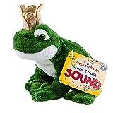 Teddys Rothenburg Froschkönig Kuscheltier Frosch mit Sound (Quaken) und Goldener Krone 15 cm by Uni-Toys