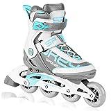 SPOKEY Prime PRO Inline Skates für Erwachsene bis max. Gewicht 100 kg  Alu-Schienen, Kugellager ABEC-9 Carbon, PU Rolle 82 A, Rollengröße: Ø 80 mm, anatomische Innensohle, Heelock