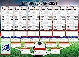 Close Up Fußball EM Spielplan 2021 | Mit Allen Gruppen und Spielen | XXL-Poster (100 x 140 cm) | Die Europameisterschaft im Überblick!