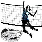 Hiinice Volleyball-Netz Tragbare Badminton Net Profisport Volleyball-Netz für Outdoor- und Indoor-Übungsnetz (weiß)