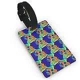Kofferanhänger Koffer Französisch Bulldog Spezialeffekte Foto gedruckt Reise Koffer Kofferanhänger, stilvolle und erkennbare Gepäckanhänger, beschreibbare Namen auf der Rückseite (1 Stück)