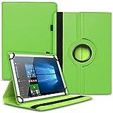 Tablet Hülle kompatibel für Xido Z120 Z110 X111 X110 Tasche Schutzhülle Case Cover aus Kunstleder Standfunktion 360° Drehbar, Farben:Grün