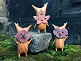 Korogu Familie, Holz Korogu/Korok Statue - Zelda Atem der Wildnis, Puppenspielzeug Handwerk Dekoration (3 Pcs)