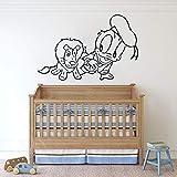 HGFDHG Baby Ente Wandtattoos Cartoon kleinen Löwen Kinder Schlafzimmer Schlafzimmer Babyzimmer Hauptdekoration Türen und Fenster Vinyl Kunst Aufkleber Kinderzimmer Tap