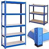 180 x 90 x 40 cm - Hochleistungsregale - Regale zur Aufbewahrung - 5 Felder - Blau