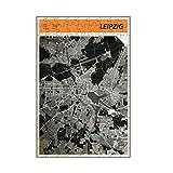 artboxONE-Puzzle S (112 Teile) Städte Stadtkarte Leipzig - Puzzle strassen Karte Leipzig