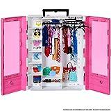 Barbie GBK11 - Tragbarer Kleiderschrank mit Kleiderbügel, Puppenzubehör und Puppen Spielzeug ab 3 Jahren