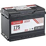 Accurat 12V Autobatterie 75Ah 760A EFB Impulse I75 Starterbatterie für Fahrzeuge mit hohem Energiebedarf, Start-Stop Automatik, wartungsfrei