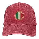MayBlosom Baseballkappe mit italienischer Flagge, verstellbar, Jeans, modisch, Unisex, Baumwolle