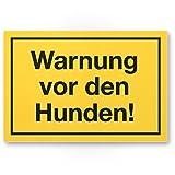 Komma Security Warnung vor Hunden - Hunde Kunststoff Schild Hinweisschild Gartentor Gartenzaun - Türschild Haustüre Warnschild Abschreckung Einbruchschutz - Achtung Vorsicht H