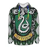 Ha_Rry Poster Po_Tter 3D-Druck Herren Hoodies Langarm Pullover Pullover Sweatshirts Pullover Gr. XXL, Schwarz
