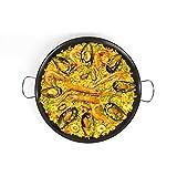 Paellapfanne 46 cm Bratpfanne Große Paella Pfanne (Servierpfanne, Carbonstahl, Antihaftbeschichtung)
