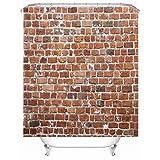X-Labor Stein Motiv Duschvorhang Wasserdicht Stoff Anti-Schimmel inkl. 12 Duschvorhangringe Waschbar Badewannevorhang 240x200cm Muster-B