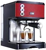 OGUAN Kaffeemaschine, Kaffeemaschine Kaffeemaschinen Kleine Haushaltsvollhalbautomatische Espresso Grinder Pumpendruck Dampf-Schaum-Office-Kapazität 1.7L Tragbarer Kaffeefilter,