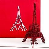 Pop Up Karte 'Paris Eiffelturm' - Gutschein, Reisegutschein Paris Frankreich, 3D Karte, Einladung, Gutscheinkarte, Einladungskarte, Grußkarte Paris, Geschenkkarte, Pop Up Geburtstagskarten