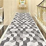 Klassische 3D Cube Teppich Läufer for Hallen Tür Fußmatten Verschleißfeste Anti-Rutsch-Bereich Teppich for Treppen/Küche/Hotel Griffige Multiple Größen Größe: 120x400cm Hall Rug