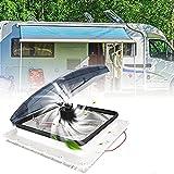 PaNt 12V Ventilator Wohnmobil Unterstützung Aufnahme und Auspuff Belüftung für RV Dachventilator mit Regensensor und Fernbedienung Ventilator Wohnmobil Leise, 3 Windgeschwindigkeiten Einstellbar