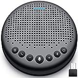 eMeet Bluetooth Konferenzlautsprecher - USB Freisprecheinrichtung für 5-10 Personen, Speakerphone 360° Spracherkennung, mit USB Dongle, für Zoom, Skype, VoIP-Kommunikation PC, Skype for Business usw