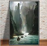 MZCYL Leinwand Malerei Wandkunst Bild Herr Der Ringe Film Karte Poster Drucken Leinwand Malerei Geschenk Ohne Rahmen 40 * 60 cm